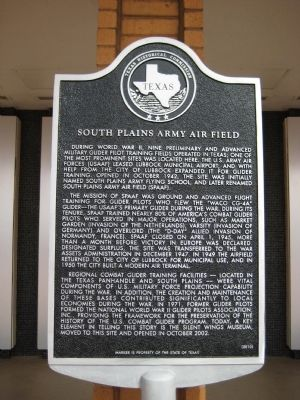 South Plains Army Air Field Marker image. Click for full size.