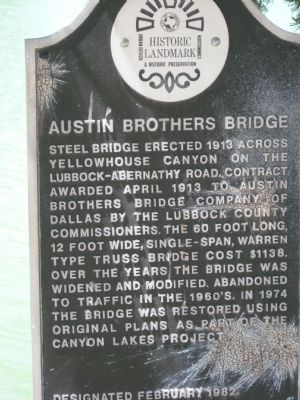 Austin Brothers Bridge Marker image. Click for full size.