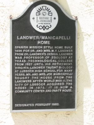 Landwer/Manicapelli Home Marker image. Click for full size.