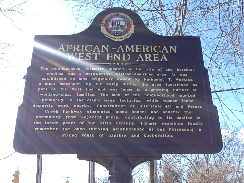 African-American West End Area Marker