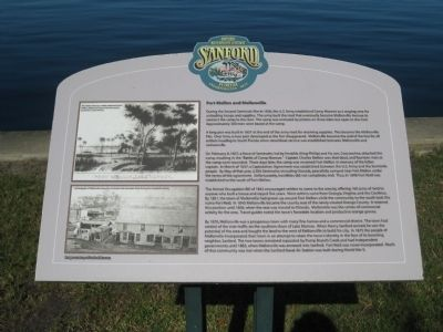 Fort Mellon and Mellonville Marker image. Click for full size.