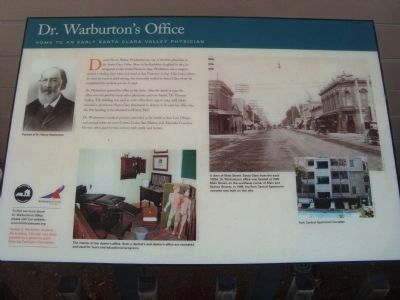 Dr. Warburton's Office Marker image. Click for full size.