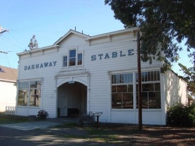Dashaway Stables and Marker image. Click for full size.