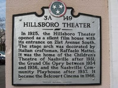Hillsboro Theater Marker image. Click for full size.