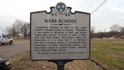 Webb School Marker image. Click for full size.