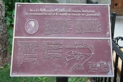 Brock's Monument - Queenston Heights Battlefield Marker image. Click for full size.