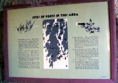 Sites of Forts in this Area Marker image. Click for full size.