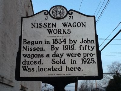 Nissen Wagon Works Marker image. Click for full size.