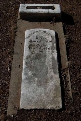 Rebecca E. Watkins Tombstone<br><i>Born June 4, 1816<br>Died Feb. 14, 1868</i> image. Click for full size.