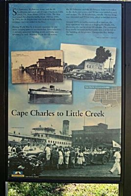 Cape Charles to Little Creek Marker image. Click for full size.