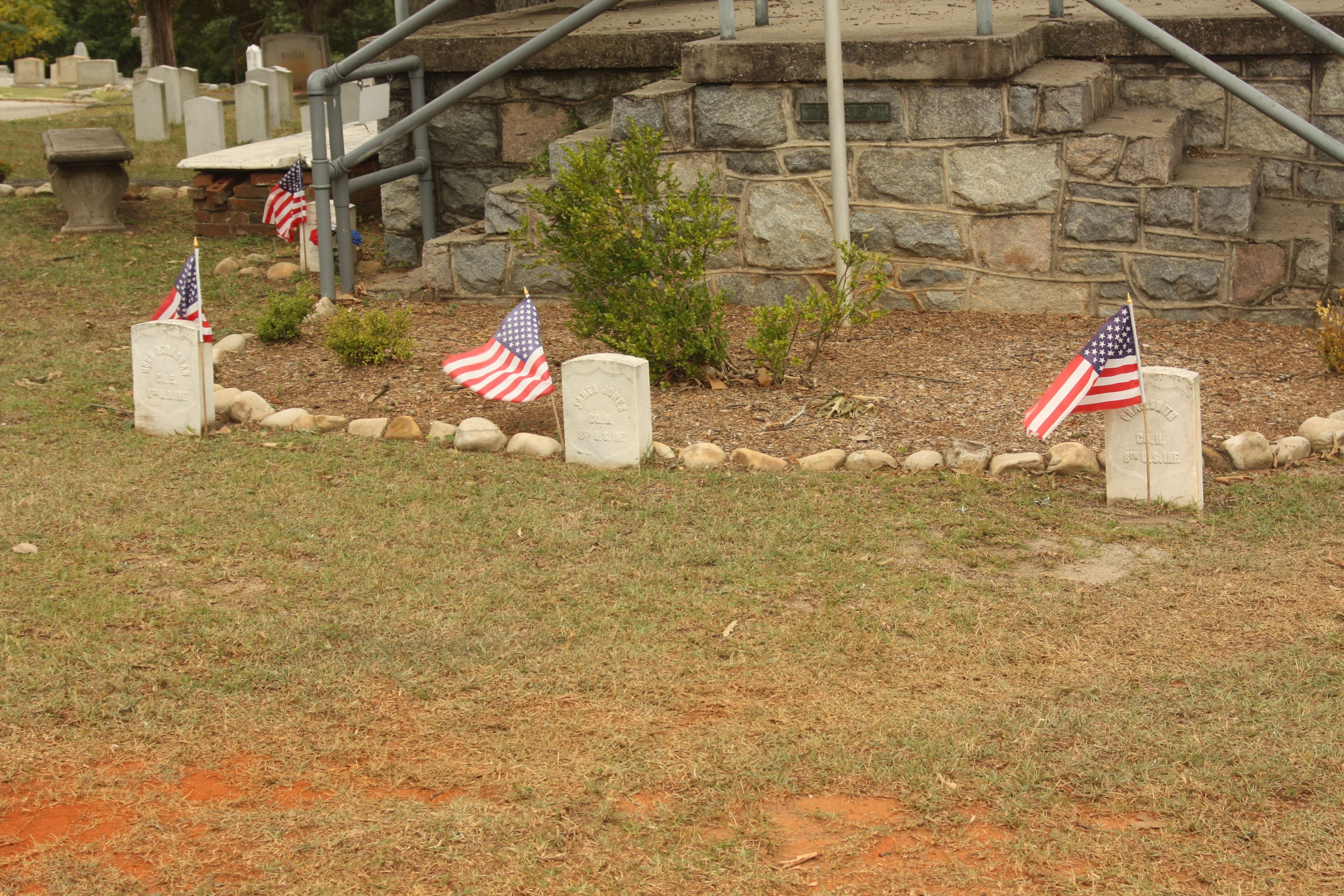 Union graves amid the Confederate dead- from photo 5