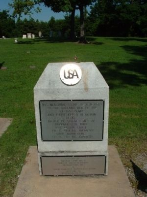 Memorial Stone to the Federal Army. image. Click for full size.