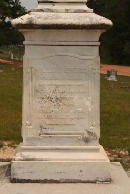 Graniteville Cemetery, William Gregg (South face) image. Click for full size.