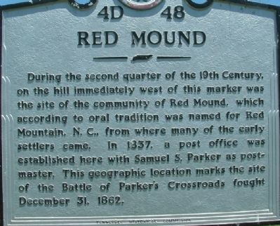 Red Mound Marker image. Click for full size.