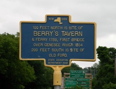 Berry's Tavern Marker image. Click for full size.