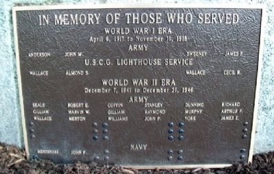 Phippsburg Veterans and Mariners Memorial Marker image. Click for full size.