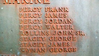 Phippsburg Veterans and Mariners Memorial WWI Honor Roll - Merchant Marine image. Click for full size.