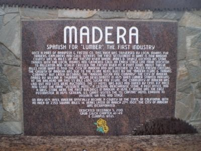 Madera Marker image. Click for full size.