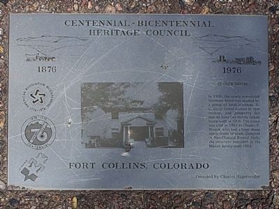Blunck House Marker image. Click for full size.