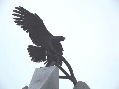 Florence Veterans Park Monument Eagle image. Click for full size.