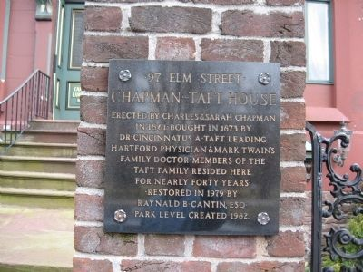 Chapman-Taft House Marker image. Click for full size.