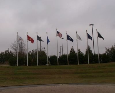 Florence Veterans Park Flags image. Click for full size.