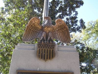 Close up of the Eagle statue on the marker image. Click for full size.