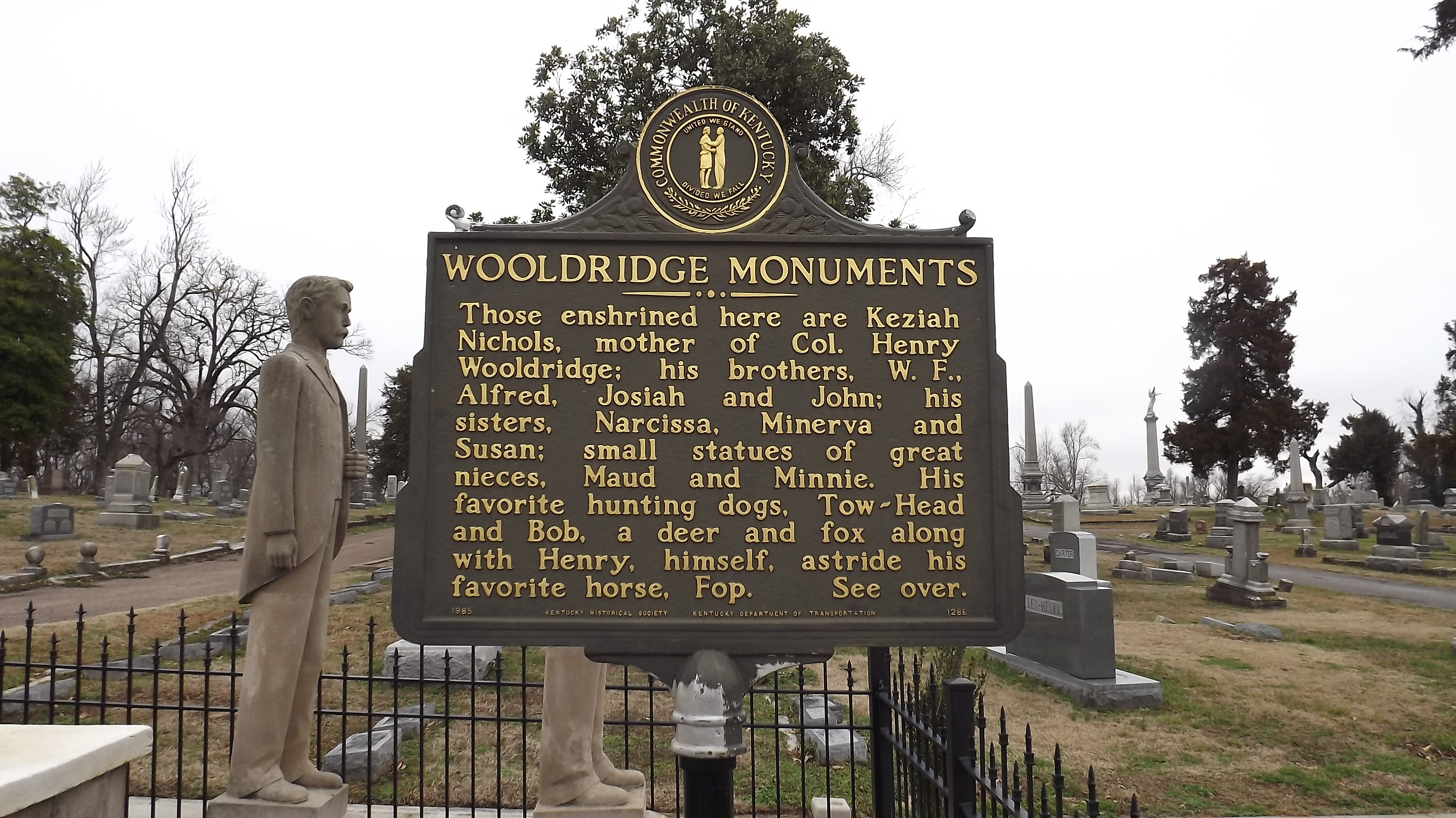 Wooldridge Monuments Marker