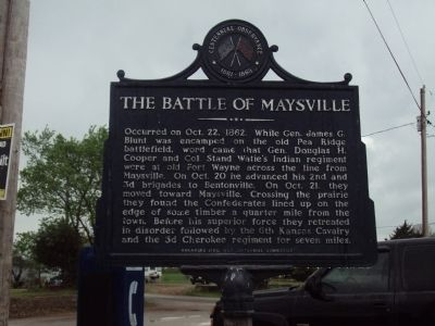 Battle of Maysville Marker image. Click for full size.
