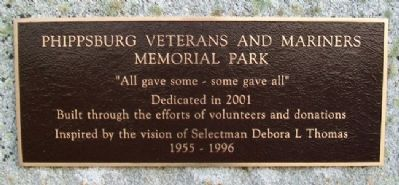 Phippsburg Veterans and Mariners Memorial Park Marker image. Click for full size.