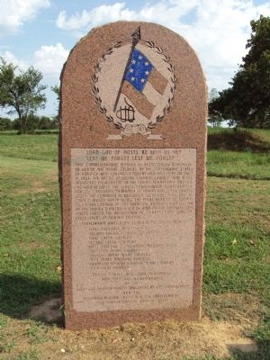 Confederate States Monument to the Battle of Honey Springs Marker image. Click for full size.