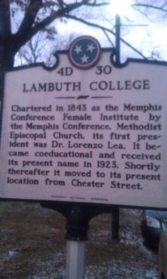 Lambuth College Marker image. Click for full size.