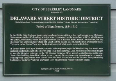 Delaware Street Historic District Marker image. Click for full size.