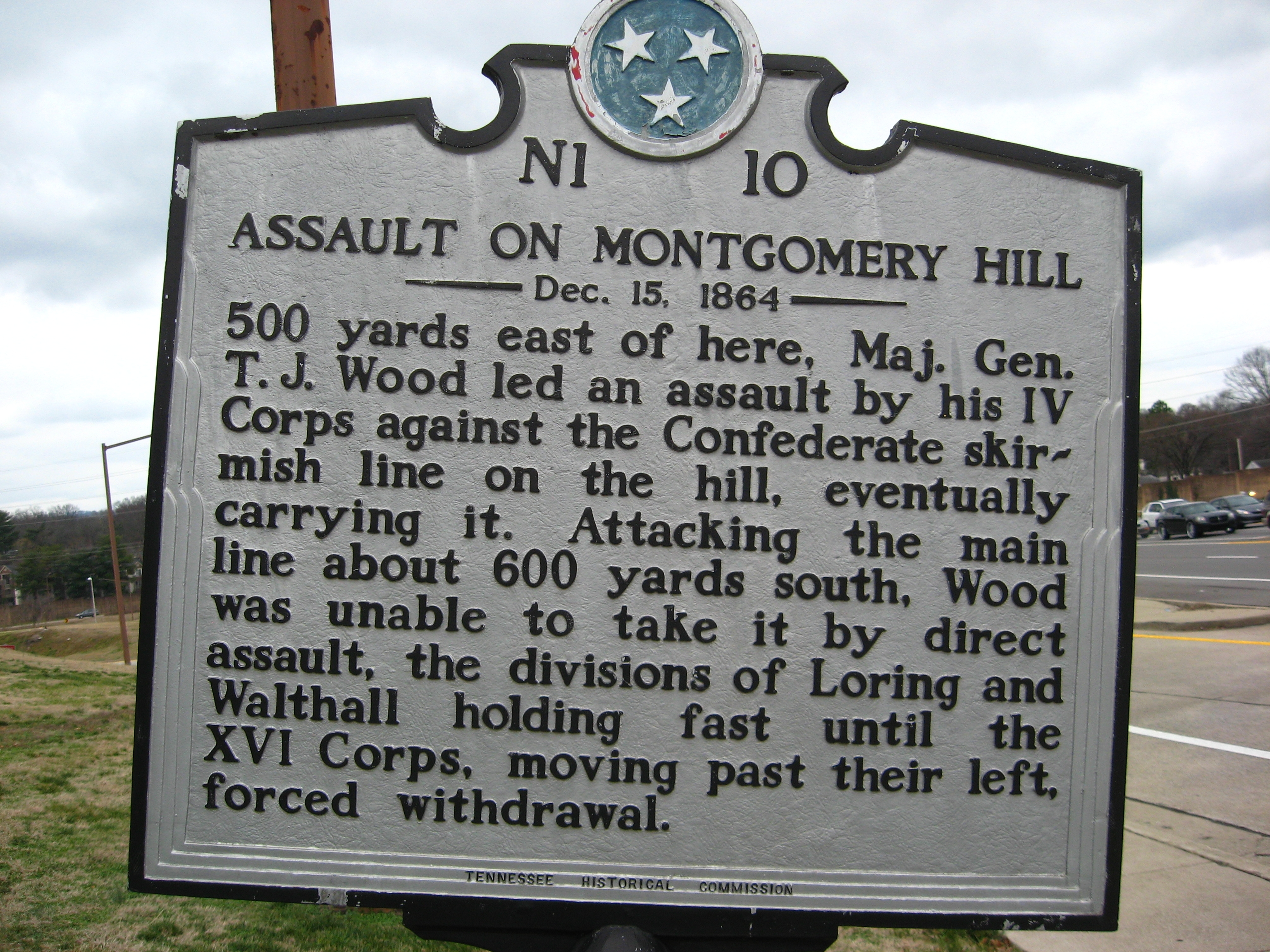 Assault on Montgomery Hill Marker