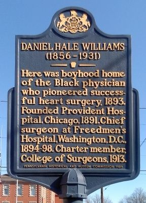 Daniel Hale Williams Marker image. Click for full size.