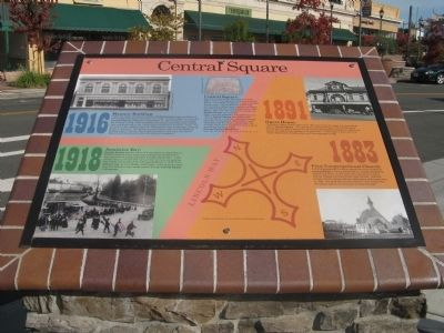 Central Square Marker image. Click for full size.