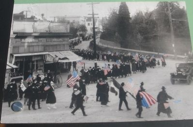 Armistice Day Parade - Photo Displayed on Marker image. Click for full size.