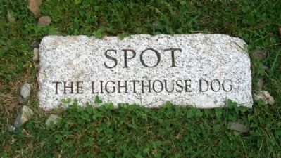Spot the Lighthouse Dog Marker at Owl's Head Light image. Click for full size.