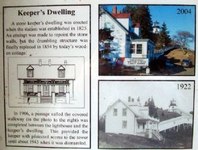 Owl's Head Light Station Kiosk - Keeper's Dwelling image. Click for full size.