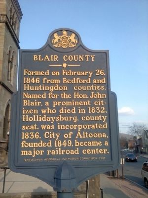 Blair County Marker image. Click for full size.