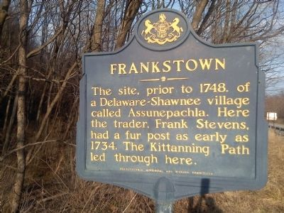 Frankstown Marker image. Click for full size.