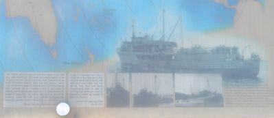 Tuna Fleet Service, World War II (1941-1945) Marker: close-up of illustrations, lower left image. Click for full size.