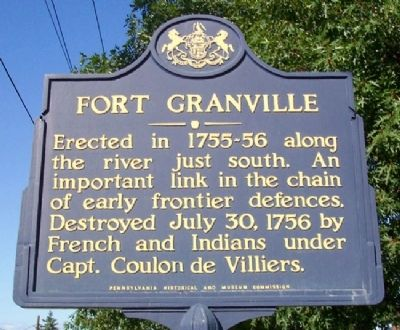 Fort Granville Marker image. Click for full size.