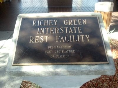Richey Green Interstate Rest Facility Plaque image. Click for full size.