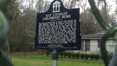 Ray Charles Childhood Home Marker image. Click for full size.