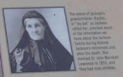 Rachel Jackson Lawrence, 1832-1923 image. Click for full size.