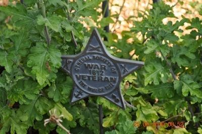 War 1812 Star Marker image. Click for full size.