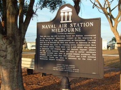 Naval Air Station Melbourne Marker image. Click for full size.