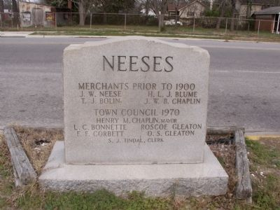 Neeses Marker ~ Reverse image. Click for full size.