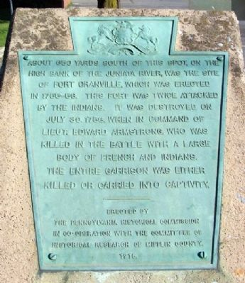 Fort Granville Marker (Plaque) image. Click for full size.